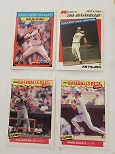 4 baseball cards Cal Ripken,Jr. Nolan Ryan Wade Boggs JIm Palmer