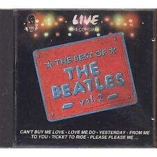 BEATLES - The best of vol. 2 - Live recording - CD ITALY 1992 OTTIME CONDIZIONI