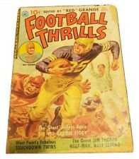 Football Thrills # 1 Jim Thorpe 1951 Red Grange - Knute Rockne - Powell Art - Fr