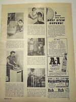 1955 Magazine Advertisement Page For A 1 Steak Sauce A 1 Stew Recipe Vintage Ad