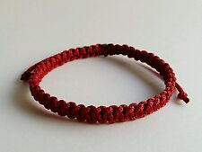 Authentic Thai Blessed Buddhist Wristband Fair Trade Wristwear Dark Red