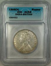 1888(b) India-British Silver 1 Rupee ICG AU-58 KM#492