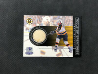 1999-00 UPPER DECK GRETZKY RAY BOURQUE RARE TOOLS OF GREATNESS STICK PATCH #RB