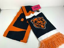 NFL Chicago Bears Two-Sided Stadium Knit Scarf Football Forever Collectibles NEW