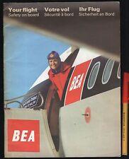 1950s BEA British European Airways YOUR FLIGHT inc 8pg MAPS Much MORE VGC RARE