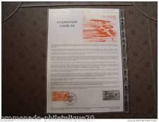 FRANCE document officiel 1er jour- hydravion CAMS 53 - 2/3/85