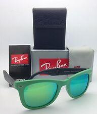 Ray-Ban Sunglasses FOLDING WAYFARER RB 4105 6021/19 Green w/ Green Mirror Green