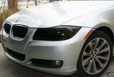 06-11 BMW E90 3 SERIES SEDAN SMOKE HEAD LIGHT PRECUT TINT COVER SMOKED OVERLAYS