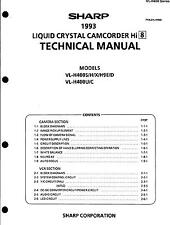 Sharp Original Service Manual per hi 8 Camcorder VL-H 400s/h/x VL-H 9e