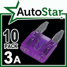 3 Amp MINI Blade Fuses x 10 – APM / ATM Automotive Fuse - Pack 3A 3Amp A KIT CAR