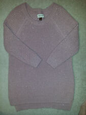 SONOMA Lifi+Style ladies Shiny Pink Soft Knit Sweater Pullover 3/4 Sleeve Sz.M