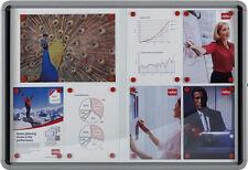 Nobo Alu Schaukasten / Infokasten für Innen, 8 x DIN A4, Schaukästen magnetisch