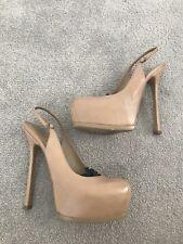 YSL Saint Laurent @ Net un Porter Nude Charol Talón Tribtoo zapatos talla 6 1/2