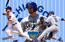 Chicago Cubs Lithograph print of Ian Happ 17 x 11