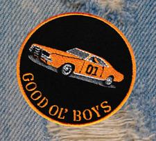 "Vintage Style Dukes of Hazzard General Lee ""Good Ol' Boys"" 01 Patch Badge 8cm"