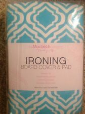 The Macbeth Collection Ironing Board Cover & Pad Turquoise White Nip