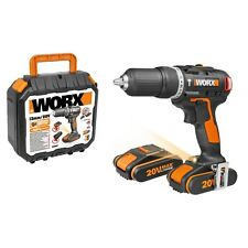 WORX WX384 18V 20V MAX Brushless Motor Cordless Combi Hammer Drill with x2 2.0Ah