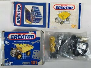 Vintage Meccano Erector Metal Construction Set #101 Dump Truck Educational Toy