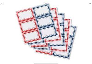 Tala 30x GINGHAM Preserving Labels for Jam Jar Preserves Chutney Pickle Stickers