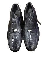 Mens Pelle Pelle black alligator look dress shoes size 12