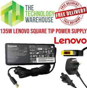 Genuine Lenovo 135W Charger Square - 20V 6.75A - AC Adapter + Power Cable