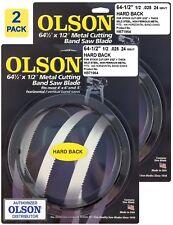 """Olson Hard Back Metal Cutting Band Saw Blades 64-1/2"""" inch x 1/2"""", 24TPI, (2)"""