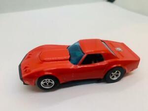 VINTAGE HO SLOT CAR AFX AURORA RED CORVETTE E-19