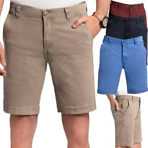 New Men's Stretch Chino Shorts Slim Fit Casual Summer Golf Half Pant UK Seller
