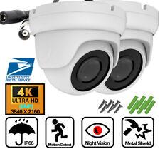 2X AHD TVI CVI 8MP Ultra 4K Night Vision LED Security Camera 2.8mm BNC CCTV IP66