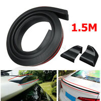 4.9ft/1.5M Universal Black Auto Car Rear Roof Trunk Spoiler Wing Lip Sticker