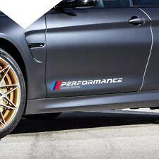 BMW M Performance Door Side Skirt Sticker Decal Vinyl Graphic WHITE Universal x2
