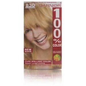 Garnier 100% Color Vitamin-Enriched Gel Crème, 830 Medium Golden Blonde