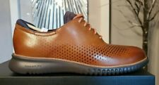 🔥Cole Haan 2.ZERØGRAND LASER Wingtip Oxford Fine British Tan Colorway Sz 11