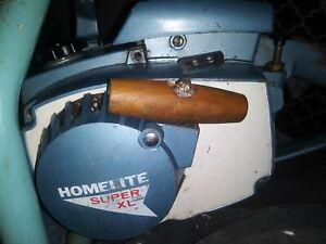 Vintage Homelite Super XL Blue Chainsaw