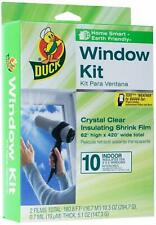 Window Insulation Shrink Kits 10 Window Duck Brand Indoor & Earth Friendly NEW
