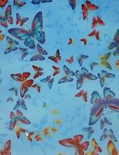 """Butterflies """"Tiffany"""" on Sky Blue by Timeless Treasures~Cotton Fabric"""