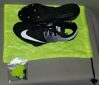 NIKE RIVAL S 8 Black/White Sz 13 Sprint Track Spikes Shoes Mens New