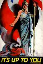 """WWII  Its up to You Britannia 1939-1946 [ 8.5"""" x 11"""" ]   Poster"""