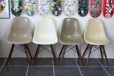 Lot de 4 chaises dsw fibre eames herman miller vintage raw umber