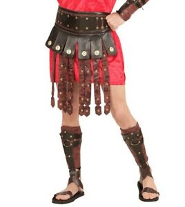 Roman Gladiator Leather Look Apron Skirt and Armbands Game of Thrones Fancy Dres