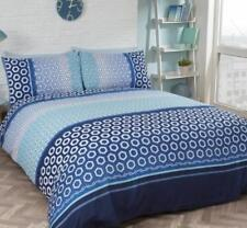 Rapport Barbican Duvet Set, Polyester-Cotton, Blue KING