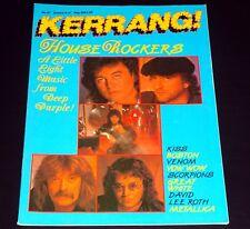 KERRANG Magazine #137 Jan 1986 Deep Purple Blackmore Kiss Boston Venom Metallica