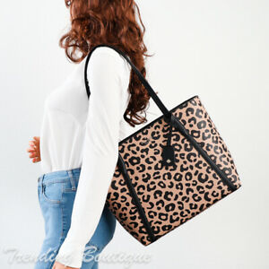 NWT Kate Spade New York Cara Tote &/Or Slim Bifold Wallet in Leopard Print