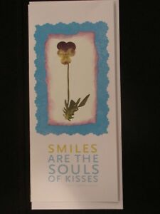 Flowers, Smiles: handmade greeting card