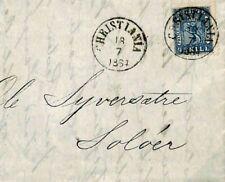 F137a Norway 1864 Cover {samwells}