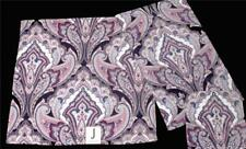 2 JAKSON Paisley Medallion Purples Blues Mauve Filigree Velour Bath Towels NWT