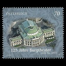 Austria 2013 - 125th Anniv Vienna National Theatre Architecture - Sc 2473 MNH
