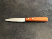 couteau d office PRADEL manche bois lame lisse