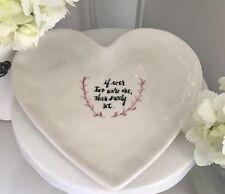 Rae Dunn Artisan Collection My Magenta Uneven Heart Plate