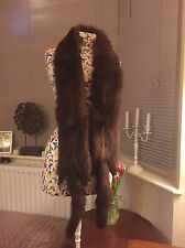 Vintage Brown Mink Real FUR Boa Scarf Stole Bolero Shrug Taxidermy Tails & Feet